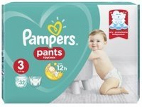 Pampers PANTS  3  Midi 6-11 кг  (32 шт) , Россия