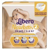 Libero Baby Soft 2 Mini 3-6 кг 94 шт, Польша   { 94553 }